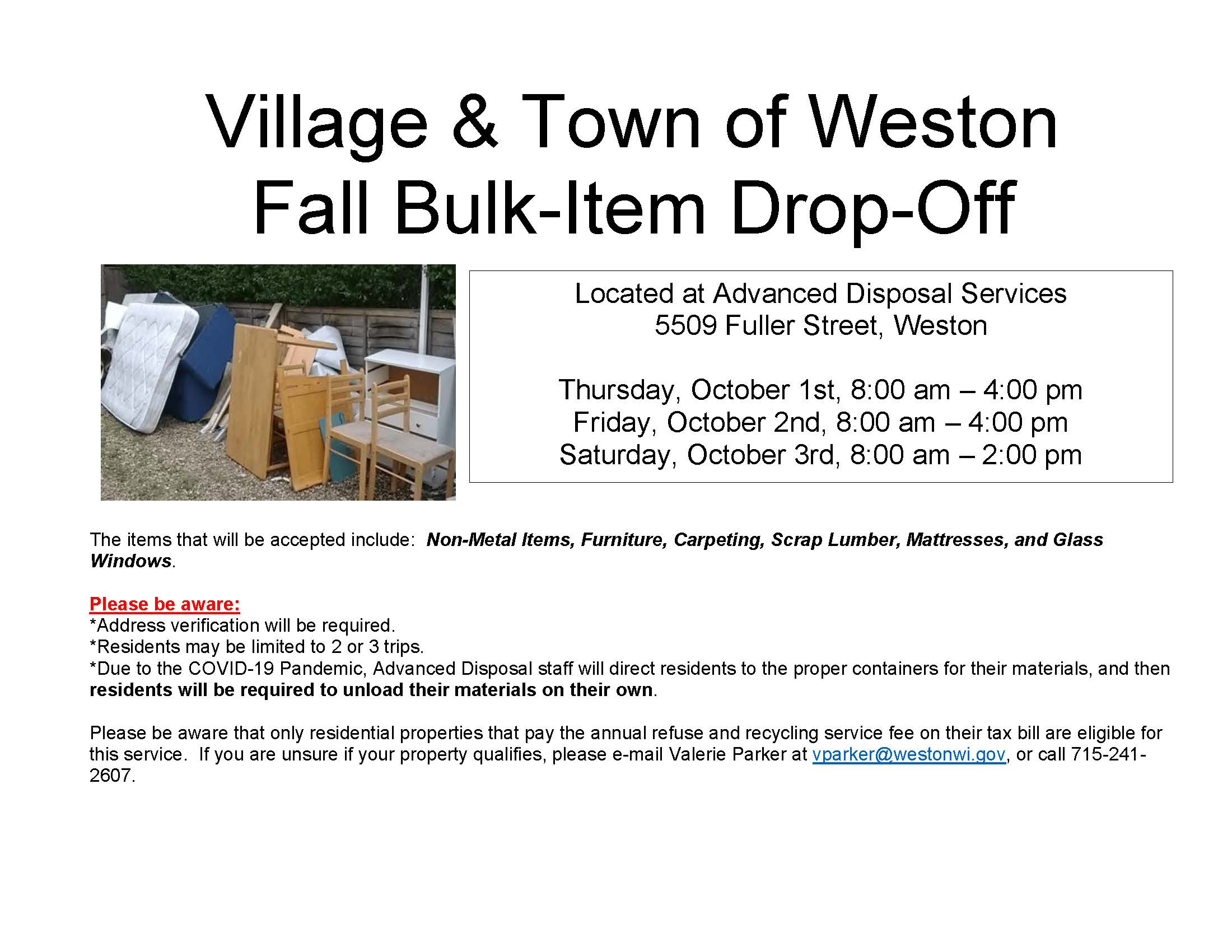 Fall Bulk-Item Drop-Off Flyer